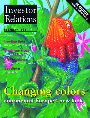 IR Magazine February 1998: Changing colors