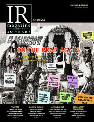 IR Magazine July 2009: On the road again