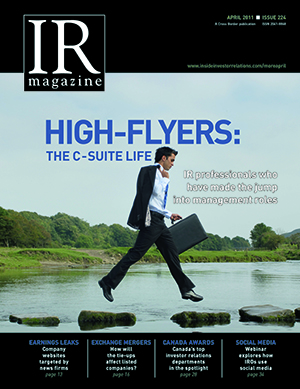 IR Magazine April 2011: High flyers