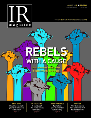 Shareholder rebels with a cause