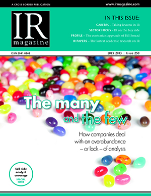 IR Magazine July 2013: The many and the few