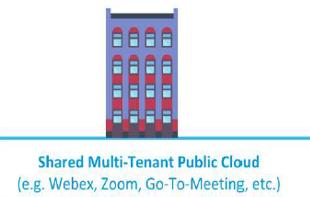 Shared multi-tenant public cloud