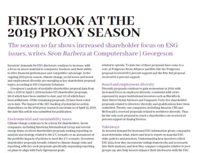 First look at the 2019 proxy season | IR Magazine