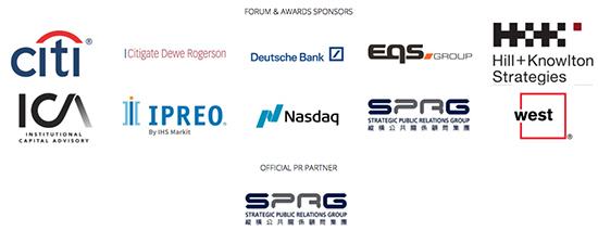 Sponsors of the IR Magazine Awards - Greater China 2018