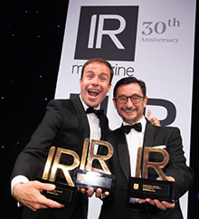 Diego Morón & Ignacio Cuenca of Iberdrola at the IR Magazine Awards – Europe 2018