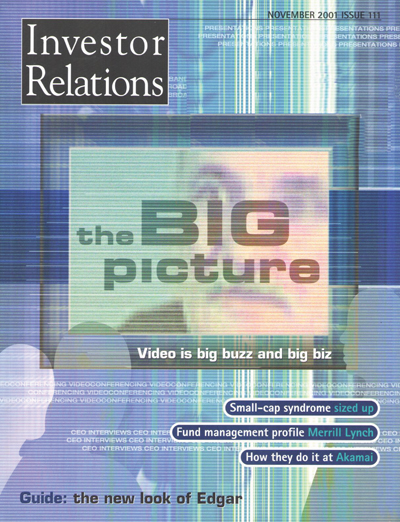 IR Magazine Magazine Cover, November 2001