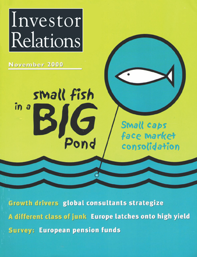Magazine Cover - November 2000. Small fish in a big pond