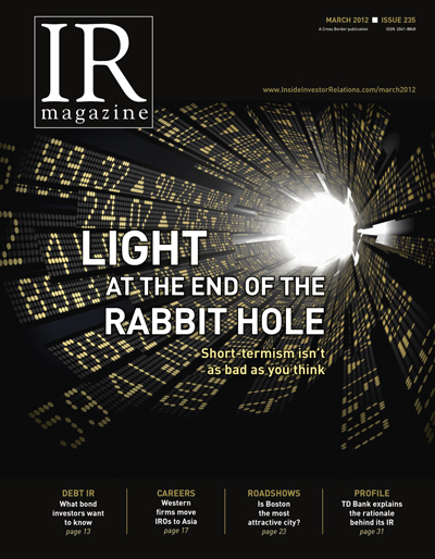 March 2012 - Light at the end of the rabbit hole
