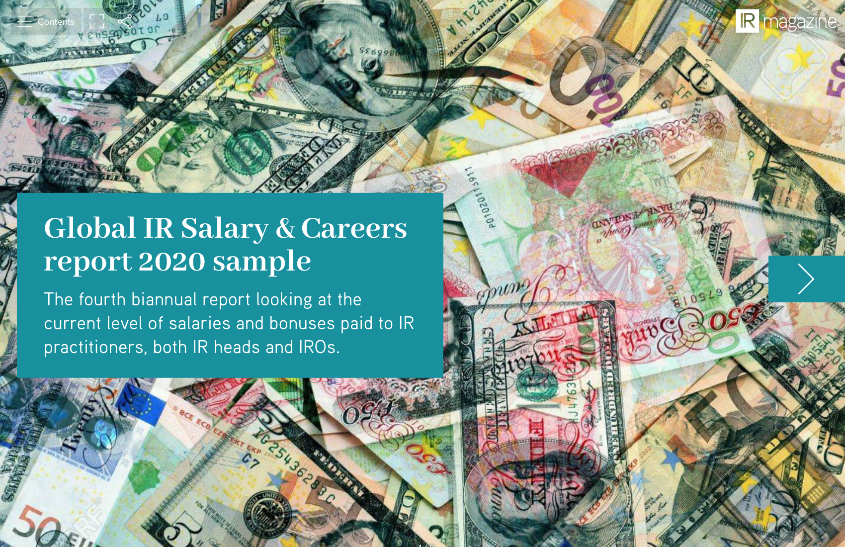 Global IR Salary & Careers research report