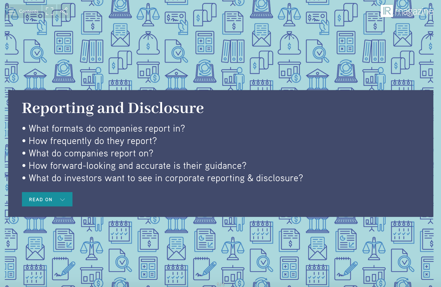 Reporting Disclosure research report
