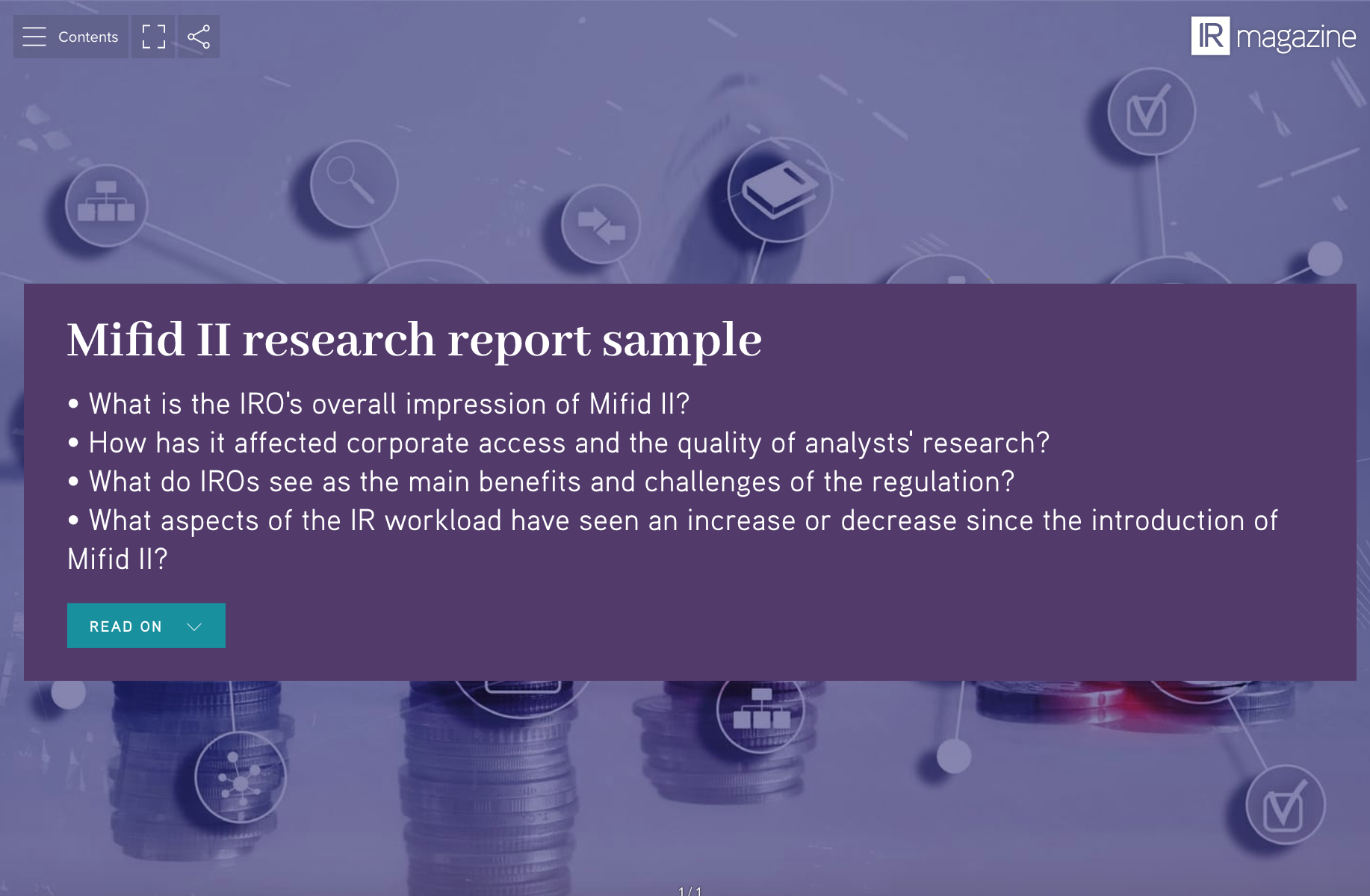 Mifid II research report