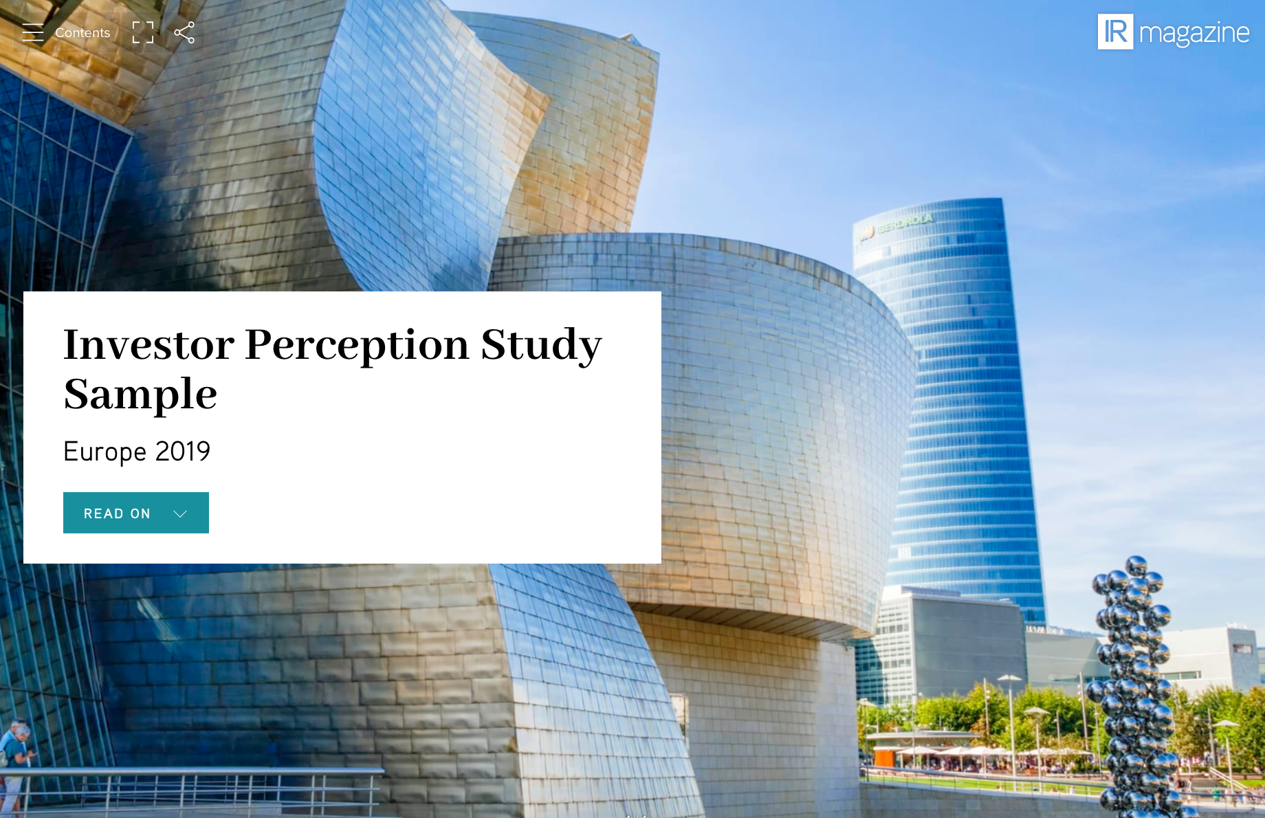 Investor Perception Study - Europe 2019
