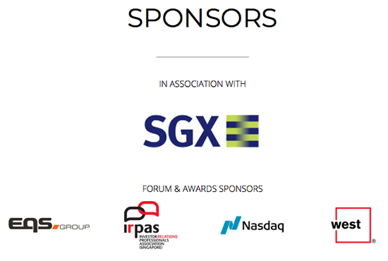 Sponsors of the IR Magazine Awards - South East Asia
