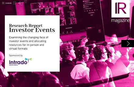Investor Events report