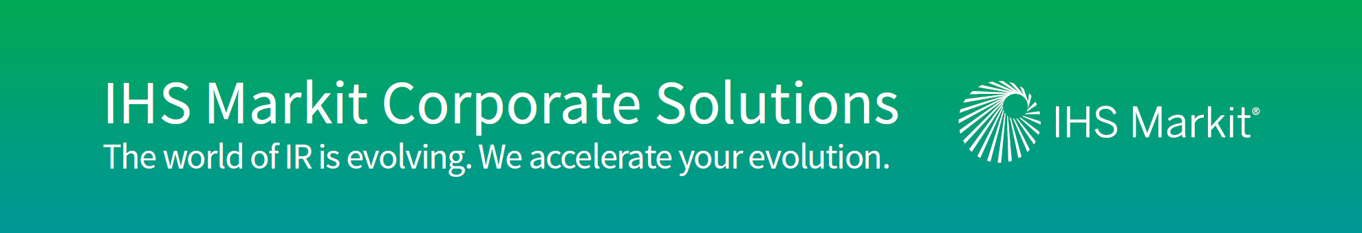 IHS Markit Corporate Solutions - Overview brochure