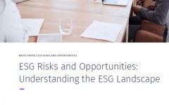 ESG Risks and opportunities: Understanding the ESG landscape