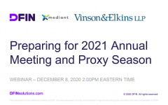 Preparing for 2021 annual meeting & proxy season