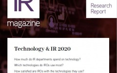 Technology & IR 2020
