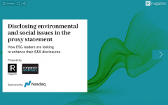 Disclosing environmental and social issues in the proxy statement