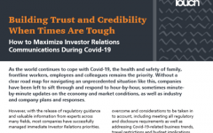 Building trust and credibility when times are tough