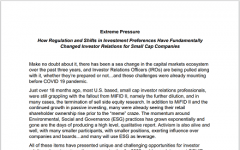 Extreme pressure: How regulation and shifts in investment preferences have fundamentally changed investor relations for small cap companies