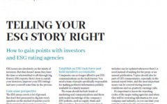 Telling your ESG story right
