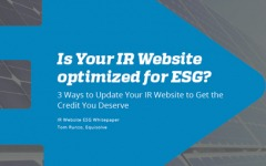 3 Ways To Integrate ESG Into Your IR Website