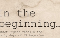 A new voice for investor relations: The early days of IR Magazine