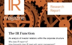 IR Function report now available