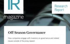 Off-Season Governance report now available