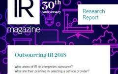 Outsourcing IR report now available