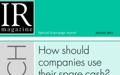 Research Section: How should companies use their spare cash?