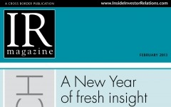 Research Section: What were your greatest IR challenges in 2012?