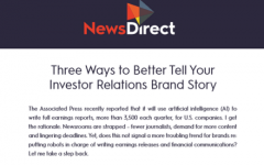 3 Ways to better tell your investor relations brand story