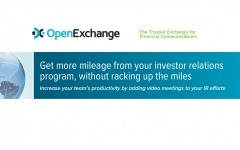 Get more mileage from your investor relations program, without racking up the miles