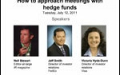 IR Magazine Webinar: How to approach meetings with hedge funds