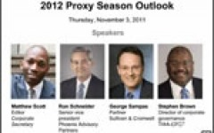 Webinar: 2012 Proxy Season Outlook