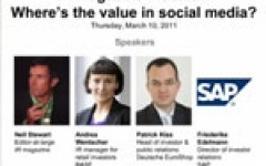 IR Magazine Webinar: Where's the value in social media?