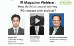 IR Magazine Webinar: How do Asia's award-winning IROs engage with analysts?