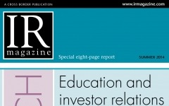 Research section: Education and investor relations