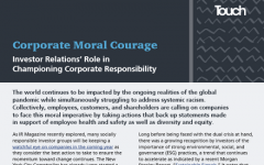 Corporate moral courage