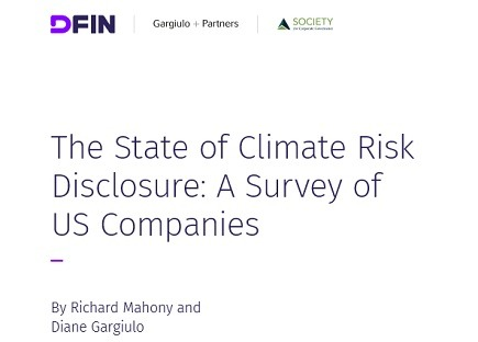 The State of Climate Risk Disclosure: A Survey of US Companies