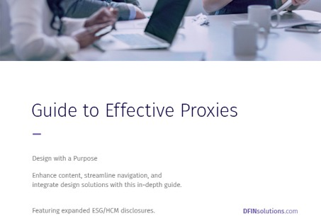 Guide to Effective Proxies: ESG and HCM Edition