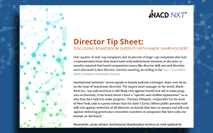 Director Tip Sheet: Discussing Boardroom Diversity With Major Shareholders