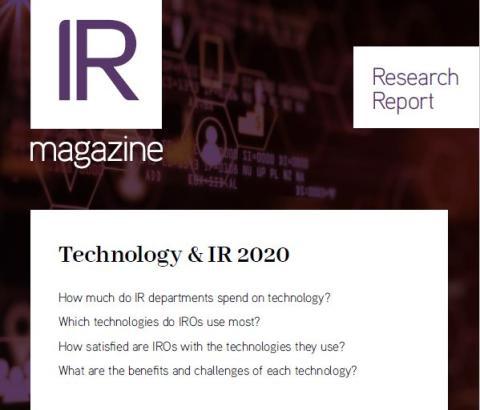 Technology & IR 2020