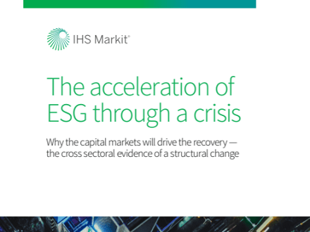 Acceleration of ESG through a crisis
