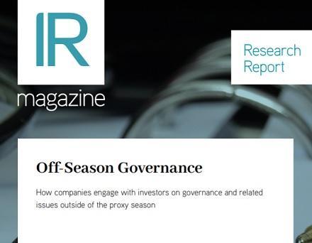 Off-Season Governance report
