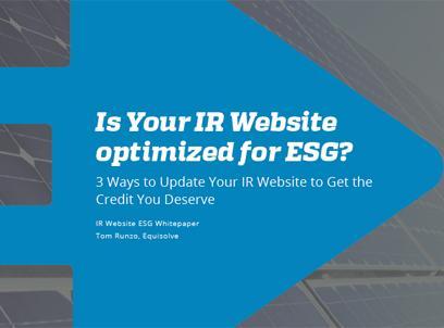 3 Ways To Integrate ESG Into Your IR Website