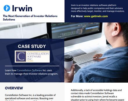 Irwin case study: Constellation Software