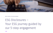ESG Disclosures - Your ESG journey guided by our 5-step engagement